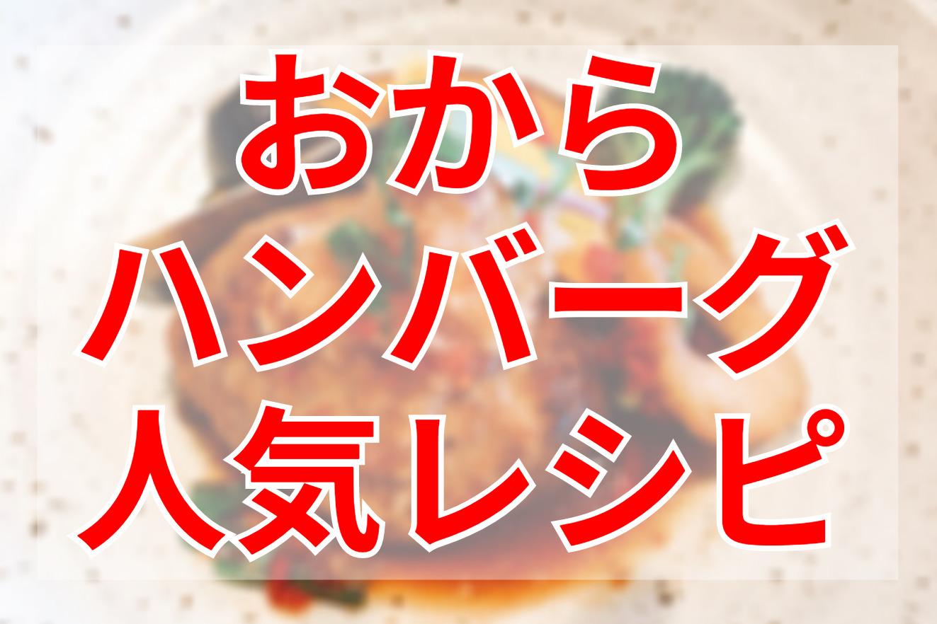 おからハンバーグクックパッドつくれぽ人気レシピ